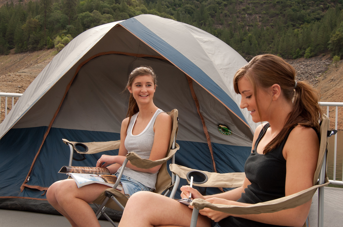 Two campers at Oroville