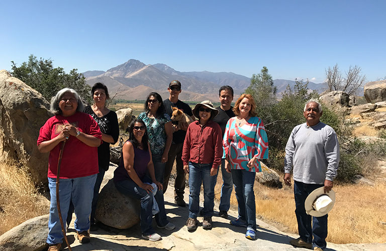 The Tubatulabal Tribe welcomes the Dept. Water Resources team in June 2017, to share tribal ecological knowledge on climate change in California.