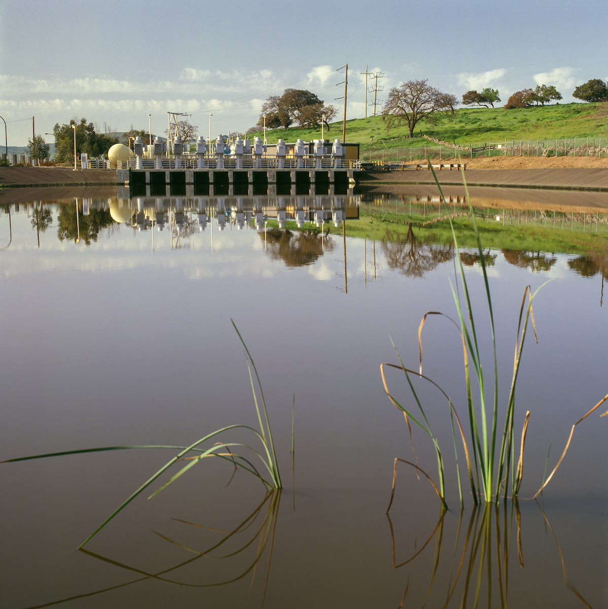 Cordelia Pumping Plant and Forebay, located between the Putah South Canal and Mangles Blvd. in Fairfield, California.
