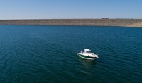Boater on Lake Oroville.