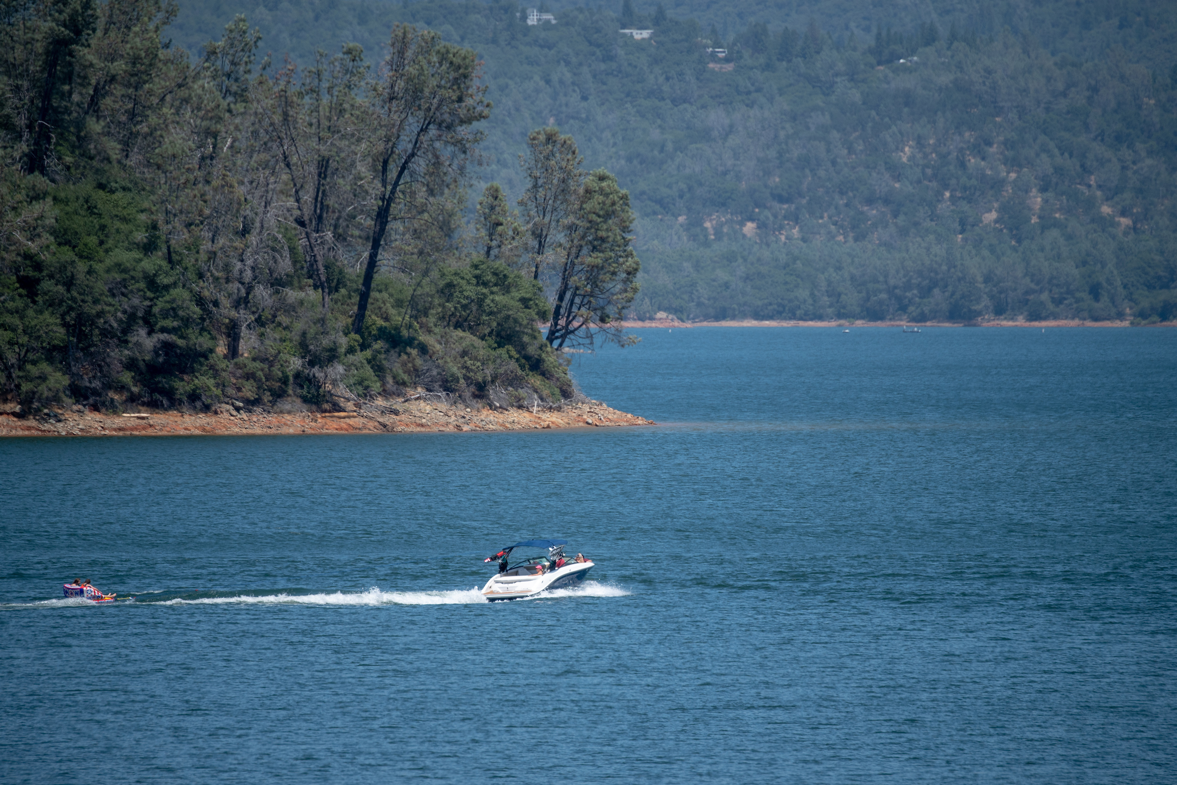 Boaters at Lake Oroville.