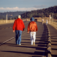 Walkers on Oroville Dam Crest Road