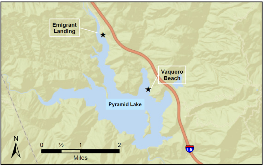 Pyramid Lake map
