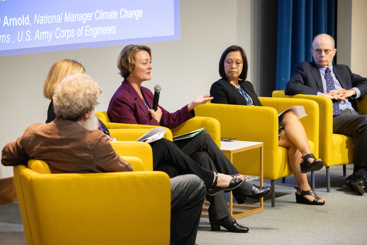 Cindy Messer discusses key policy and institutional challenges during the Climate Change Vulnerability and Adaptation Summit on September 17, 2019.