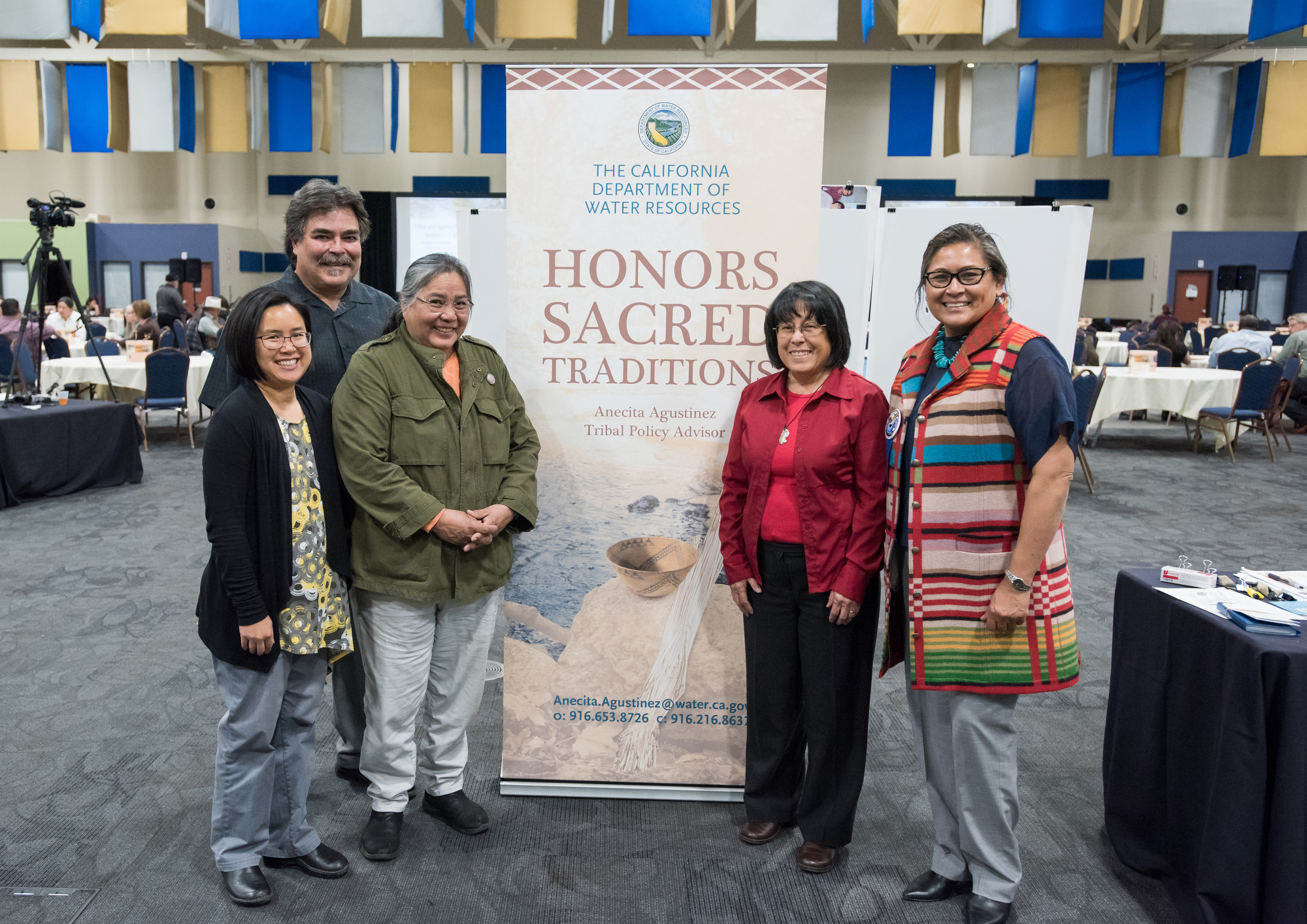 DWR employees pictured with a representative of the California Indian Environmental Alliance.