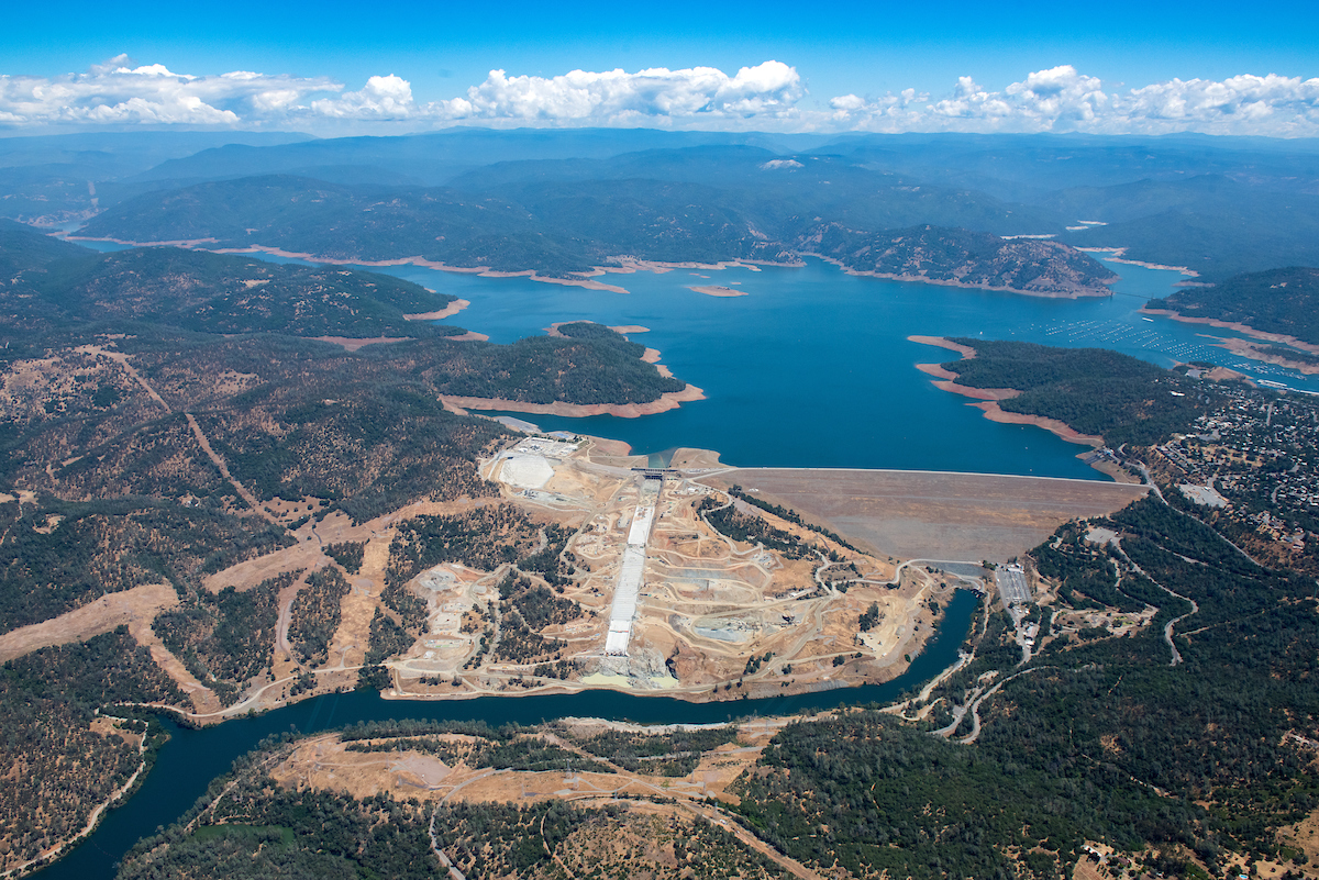 Aerial of Lake Oroville