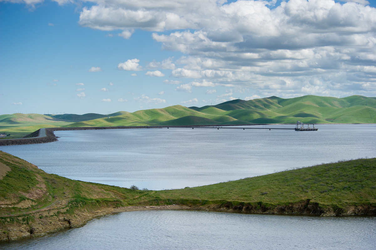 On March 27, 2017, San Luis Reservoir's storage is 2,010,326 acre feet, 98 percent of total capacity, and 110 percent of historical average for this date.