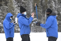 DWR staff conducts February 2021 Snow Survey at Phillips Station