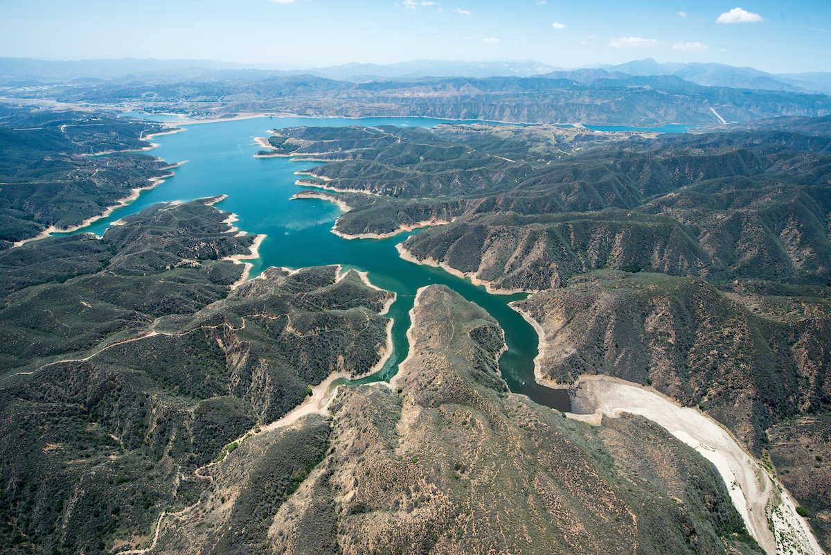 A view of the northeast side of Castaic Lake.