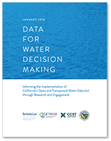 Cover of Data for Water Decision Making Report