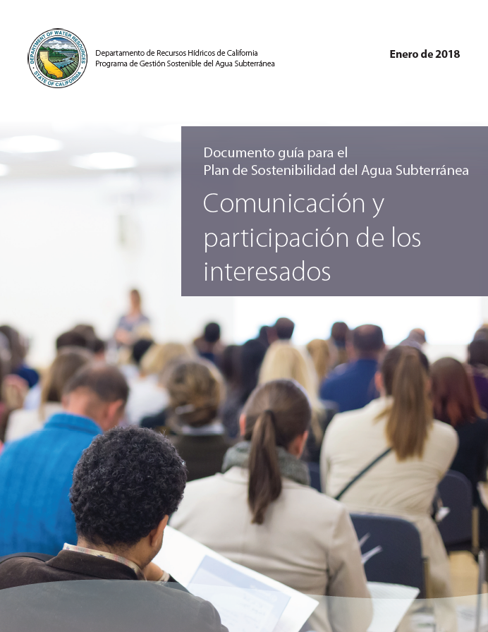 Stakeholder Communication and Engagement - SGMA GSP Guidance Doument - Spanish