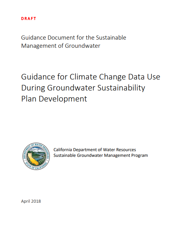 Guidance for Climate Change Data Use During GSP Development