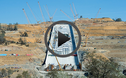 Oroville construction YouTube video playlist